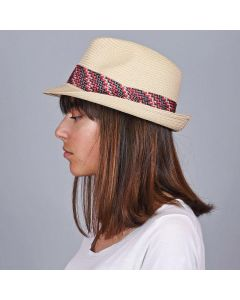 Trilby paille Zig
